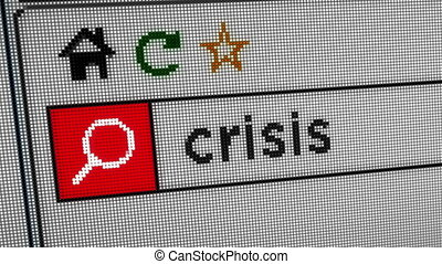 Searching internet crisis - Searching for crisis on the...