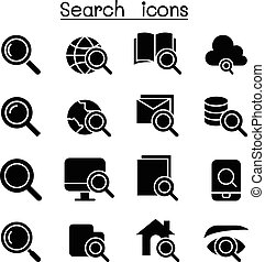 Searching & Internet icon set