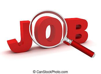 searching job concept 3d illustration