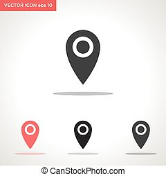 searching location vector icon isolated on white background