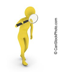 Searching man with magnifier