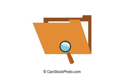 Searching on folder HD animation - Magnifying glass...