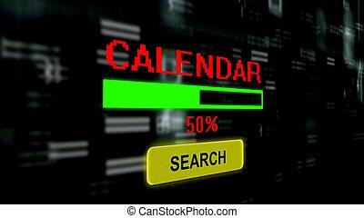 Searching online for calendar progress bar