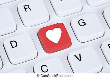 Searching partner and love online on internet dating ...