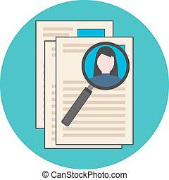 Searching professional staff, analyzing resume, recruitment...