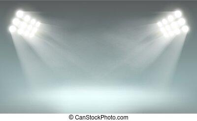 Searchlight on dark background