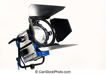 Searchlight on a white background.