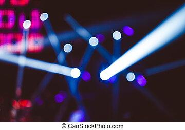 searchlights, op, een, concert