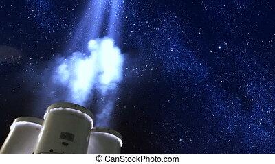 searchlights, sob, estrelas