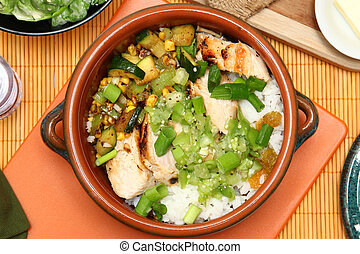 Seared Chicken and Tomatillo Salsa