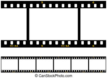 Searmless Repeating Filmstrip - Six (6) numbered frames of a...