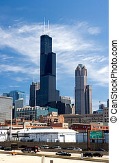 Sears / Willis Tower - A view of Chicago and the Sears /...