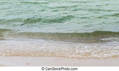 sea shore or ocean waves on beach