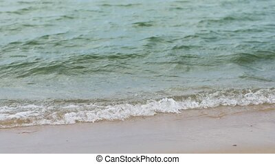 sea shore or ocean waves on beach - seascape and nature...
