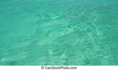 sea water in tropical lagoon - seascape and nature concept -...
