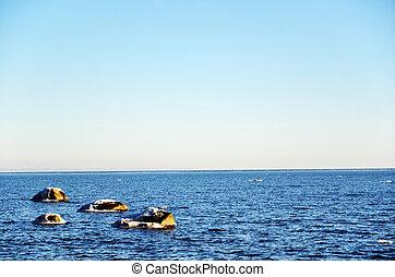 Seascape at springtime