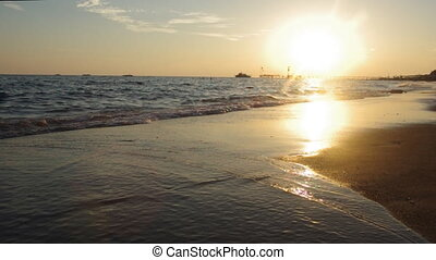 Seascape at sunset. Mediterranean