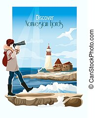 Seascape Background Illustration