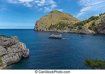 Seascape coast of the island of Mallorca,