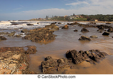 Seascape Coastal Town