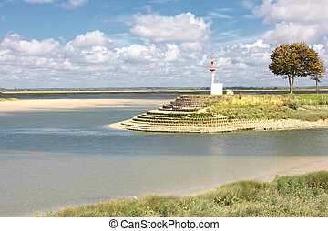 seascape, entrance to the port of St Valery sur Somme