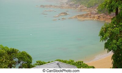 Seascape from Luxury Villa of Beautiful Coast with Cliffs...