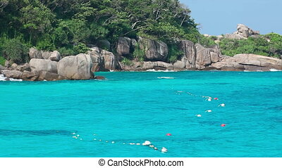 Seascape - Ko Miang island, number 4 of Similan Islands