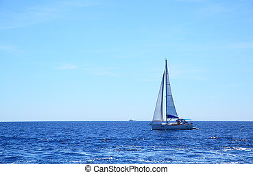 seascape, navegue barco