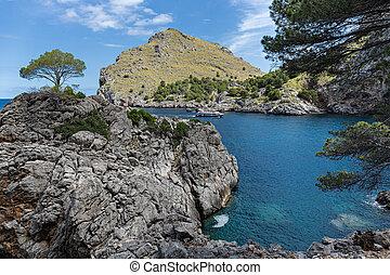Seascape. North coast of the island of Mallorca,