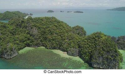 Seascape of Caramoan Islands, Camarines Sur, Philippines. -...