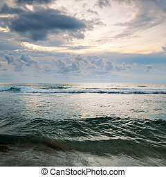 seascape on background of cloudy sky