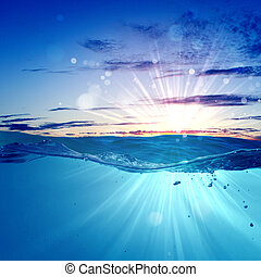 seascape, sundown