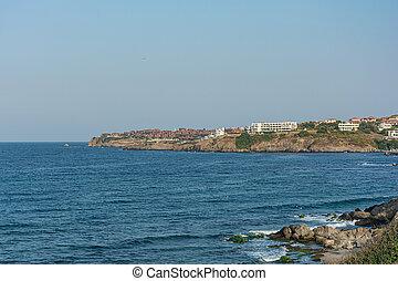 Seascape. The coast of the Black sea (Sozopol, Bulgaria)