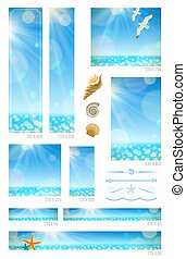 Seascape web banners