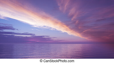 Seascape with beautiful clouds and sea