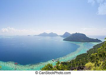 seascape with blue sky