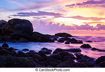 Seascape with colorful
