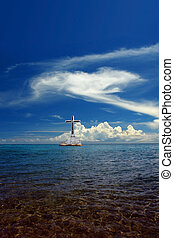Seascape with cross