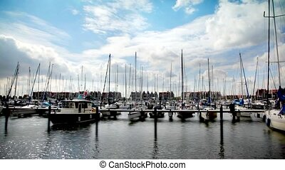 sail boats - seascape with sail boats by Volendam (...