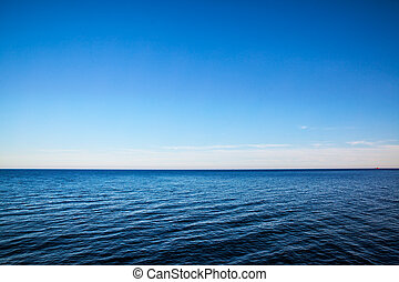 Seascape with sea horizon - Background