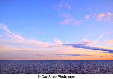 Seascape with sea horizon