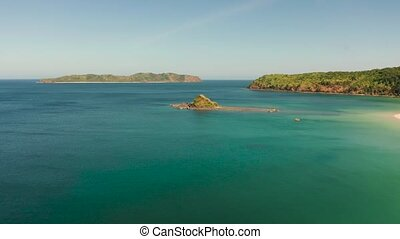 Seascape with tropical island El Nido, Palawan, Philippines...