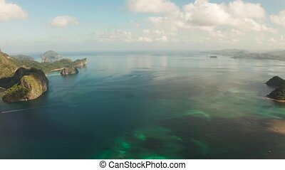 Seascape with tropical islands El Nido, Palawan, Philippines...