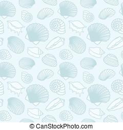 Seashell and starfish background.