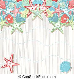 Seashell Beach Party Invitations - Soft colored seashells in...