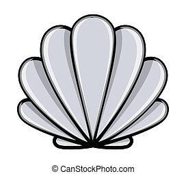 Seashell - Cartoon Vector