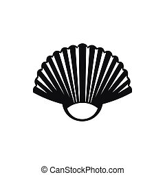 Seashell icon, simple style