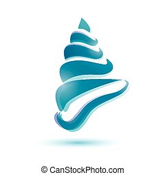 seashell isolated vector symbol