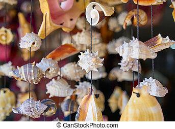 seashell mobile wind chime handcraft