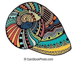 seashell, revêtir art